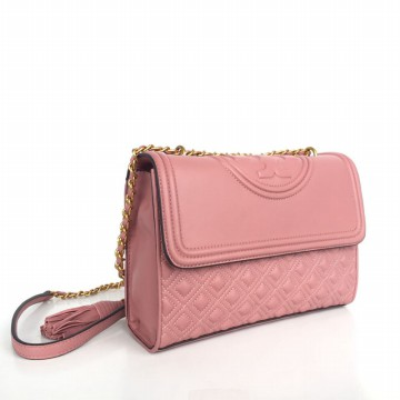 Tas Branded Tory Burch Fleming Convertible Shoulder Bag - Pink