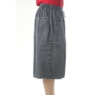 [1+1]  Celana Jumbo Santai warna Denim | 6 Warna