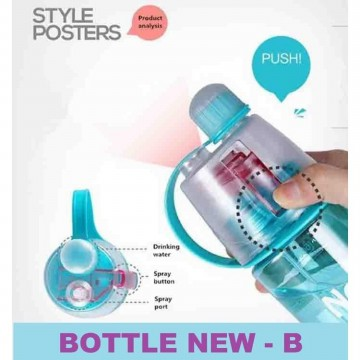 Botol Minum New B Sport Spray Water Bottle 600 ml botol minum semprot
