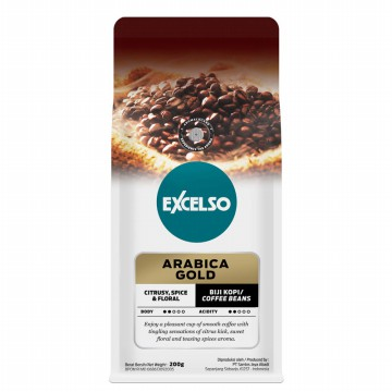 Excelso Arabica Gold Coffee 200 gram - Biji