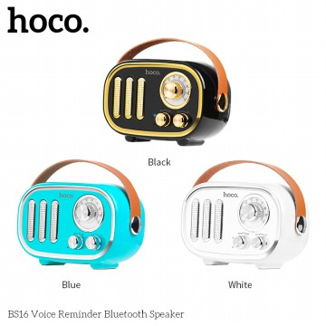 Hoco Speaker BS16 Voice Reminder Retro Wireless Portable Loudspeaker