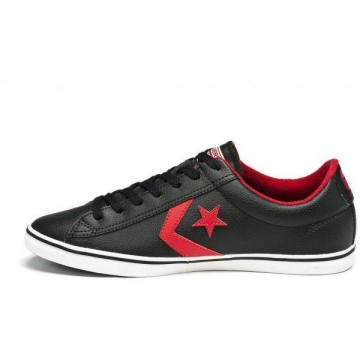 Converse Star Palyer LG OX 139726C Black Red Leather