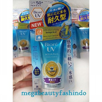 NEW Pack Biore UV Aqua Rich Watery Essence Water Proof SPF 50+ PA++++  [50 gr] 100% 50g