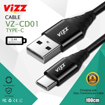 CABLE DATA TYPE C 2.4A VZ-CD01 VIZZ Kabel Data