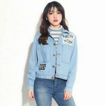 Jaket Denim/Jeans Wanita New York Light Blue