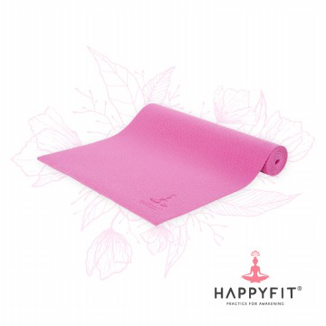 HAPPYFIT MATRAS YOGA 8MM HOT PINK (GRATIS TAS)/PVC MAT(FREE BAG) TERMURAH