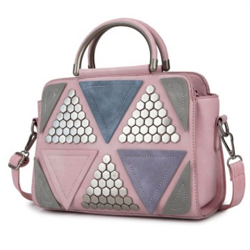 KGS Tas Casual Wanita Triangle Soft Colorful Shoulder Bag 3 Pilihan Warna