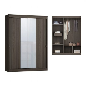 Anya Living Lemari Pakaian Havana 353 Sliding - Brown Oak