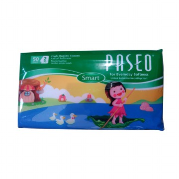Tissue Travel Pack Paseo 50's 2 Ply - Isi 10 Pcs