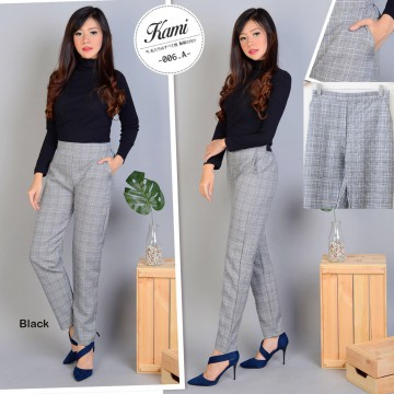 ZR checkered blazer /Checkered Pants / Celana Kotak Kotak / Stylish Pants / Celana Kantor