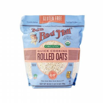 Bob's Red Mill Gluten Free Organic Quick Cooking Rolled Oats - 794 Gr