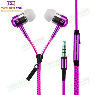 Handsfree Zipper Super Bass - Support Android BB Kabel