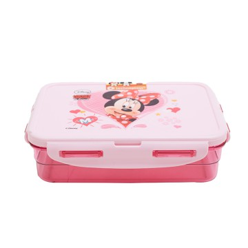 Minnie Mouse Lunch Box Pink Square B