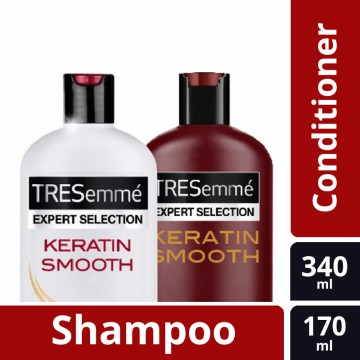 Tresemme Keratin Smooth SHP 340 Ml & Tresemme Keratin Smooth Con 170 Ml - BUNDLE