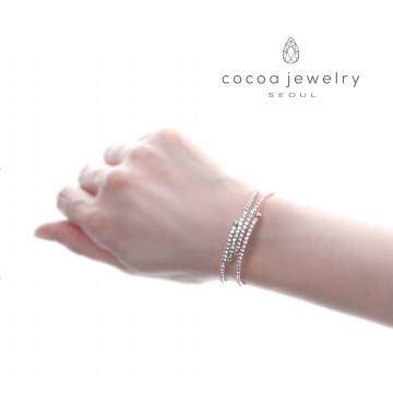 cocoa jewelry Gelang Wanita Korea - Crystal Lake Varian Color