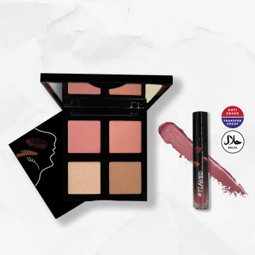 #Flawed Face Palette + Velvet Lip Cream (It Wasn't Me) Bundle