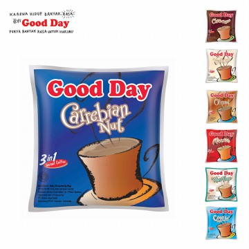 Kopi Instan 3 in 1 Good Day Bag 20 Gr - Isi 30 Pcs