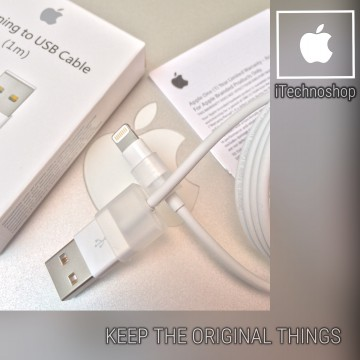Kabel Data Lightning iPhone 5/6 iPad 4/Air/Mini ORIGINAL Garansi