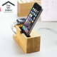 Bamboo Wooden Charging Dock Station for Apple Watch 38mm 42mm iPhone