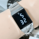 Jam Tangan Digital Apple Touch Screen LED Square Stainless Steel Watch