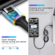 KABEL DATA LED BASEUS FAST CHARGING IPHONE / Micro USB / TYPE C 1M