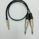 Diskon Kabel Aux Audio Canare 4mtr + Jack 3.5mm Stereo To 2 Akai 6.5mm Male