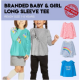 Branded-Kids Long Sleeve Graphic T-Shirt/Kaos Anak Lengan Panjang | Size 12M-5T | 3 Model