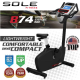 Upright Bike SOLE B74 Comfortable and Compact