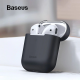 BASEUS ULTRA THIN CASE FOR AIRPODS SILICONE AIRPODS CASE 1/2 - Abu-abu
