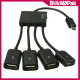 Multifunction Micro Usb Otg Hub 4 In 1 Data Cable & Charger Adapter For Smartphone & Adapter - Kabel