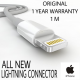 ORIGINAL APPLE USB DATA/CHARGE LIGHTNING CABLE
