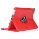 iPad AIR  360 Rotating Leather Smart Case  RED