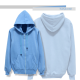 Hoodie Jacket with Ziper plain colour turkis
