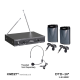 Murah !!! Mic wireless krezt DTD 37 (clip on+ clip on ) Pro