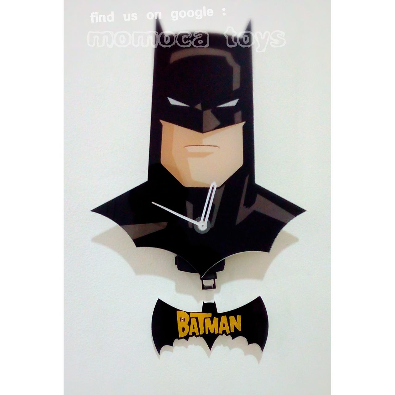 Jam Dinding Keren Unik Super Hero Batman Logo Swing