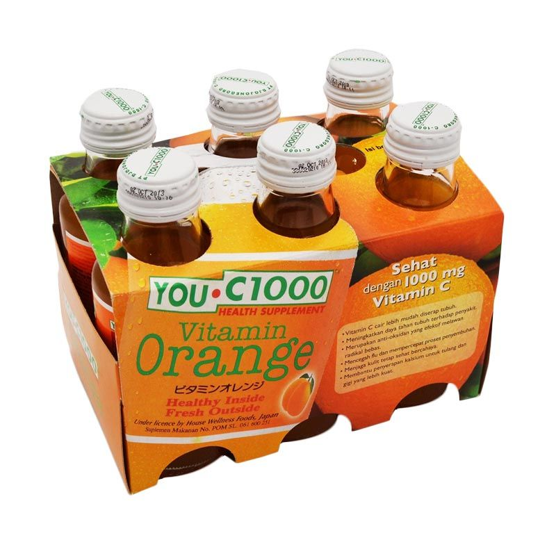 harga You -C 1000 Rasa Orange 6 pcs x 140 ml elevenia.co.id