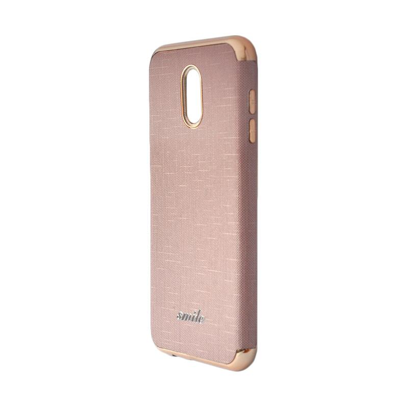Smile Softcase Silkwood Denim Case 3in1 Oppo A83 - Rose Gold .