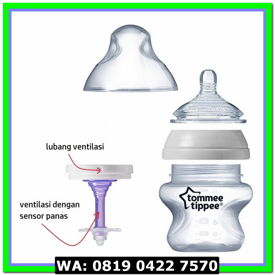 (Botol Susu) Tommee Tippee Combat Colic 2 x 260ml Vented Bottle .