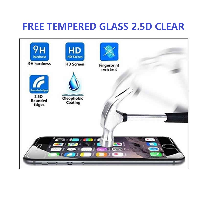 Ultrathin Silicon Case for Samsung Galaxy S7 - Transparan FREE Tempered Glass .