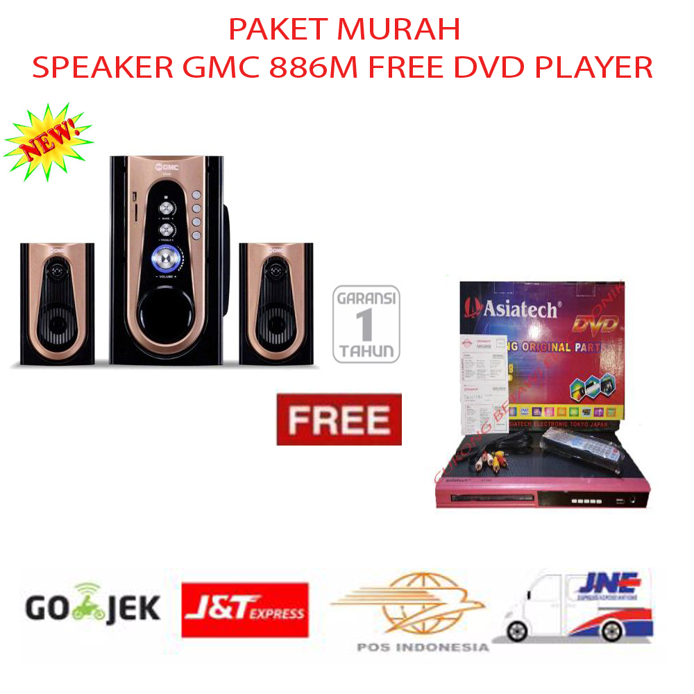 Gmc Speaker Multimedia 887 G Bronze Update Harga Terkini Dan Sharp Active Cbox 1200ubl2 22000 Watt Pmpo Double Woofer Paket Murah 886m Free Dvd Player