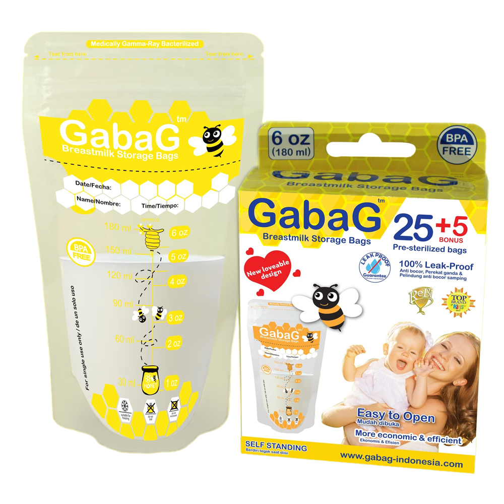 Restok New Pack - Gabag Kantong ASI / Breastmilk Bag Isi 30 BPA Free 180ml