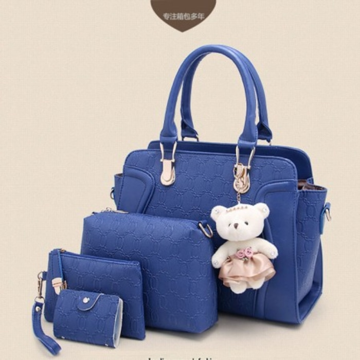 Tas 4in1 Paket Handbag 4 In 1 Murah Import Korea Boneka Teddy Bear ... 444d16c1fa