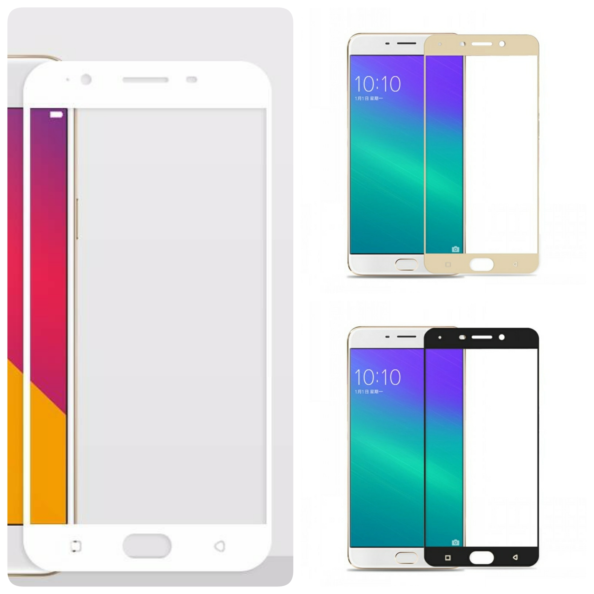 X2 Tempered Glass Warna Colour Oppo F1S A59 Warna Colour TWF1S
