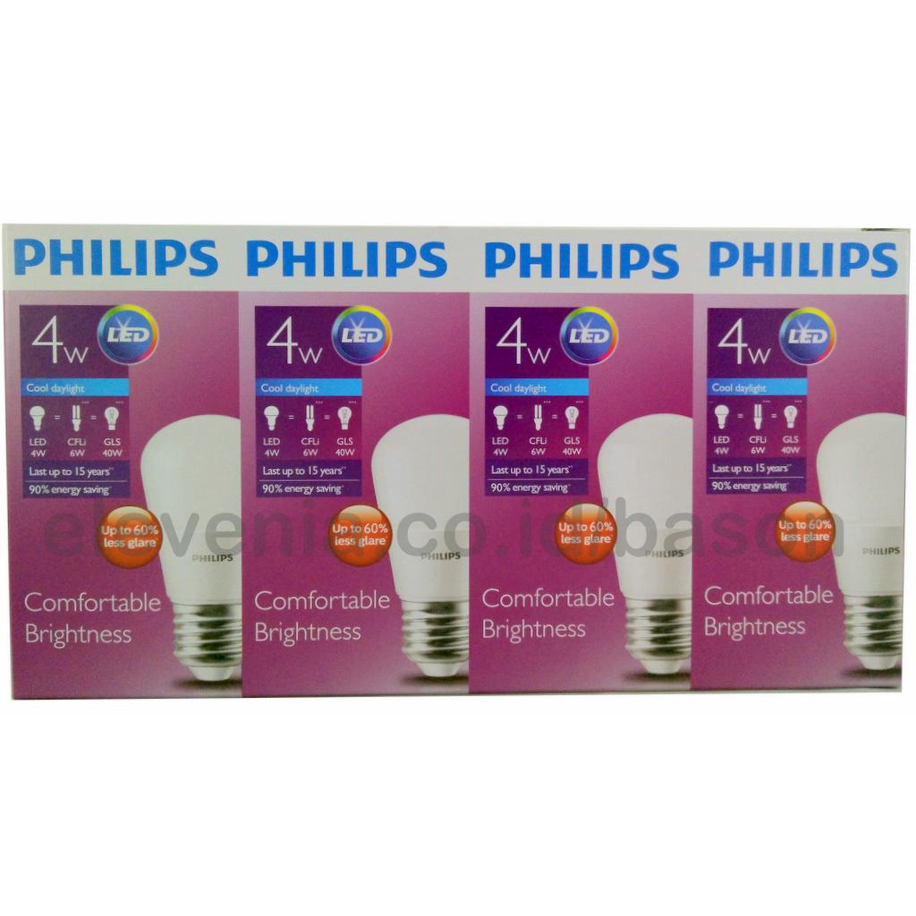 3 1 Paket Led Bulb Unicef 4w Philips Lampu Hemat Buy Get Free Usb Bohlam 5 Watt Emergency
