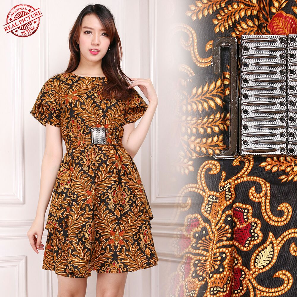 Glow Fashion Dress Batik Maxi Pendek Wanita Mini Dress Viona  c47dd92917