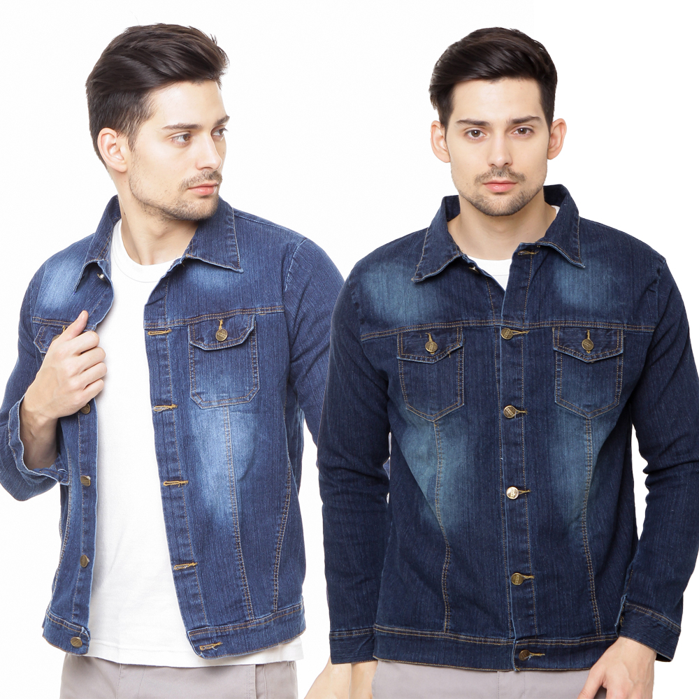 Jfashion Jaket Jeans Washed Tangan Panjang Pria Denim Superdry Syg141b Jam Hitam Men Jacket Outerwear