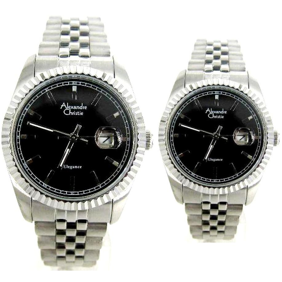 Alexandre Christie Ac 5002 Jam Tangan Pria Kasual Silver Rose 6444 Mc Black Cream Couple 5001 Harga Sepasang
