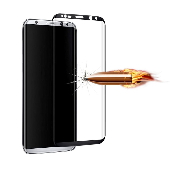 Samsung S7 Flat Tempered Glass Full Cover Screen Guard Protector Anti Gores -