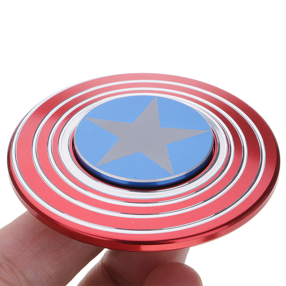Premium Fidget Spinner Captain America Shield Mainan Anak Daftar Glow In The Dark Sj0048 Quality