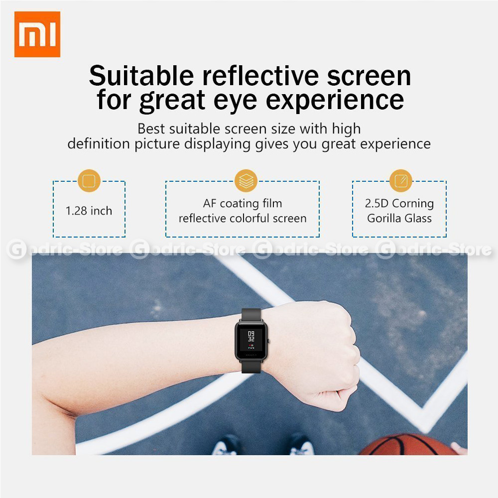Paket Bundle Smartwatch Xiaomi Huami Amazfit Bip Lite Youth Funika Rak Simpan Mini 2 Tingkat 11214 Ww Gy International English Version